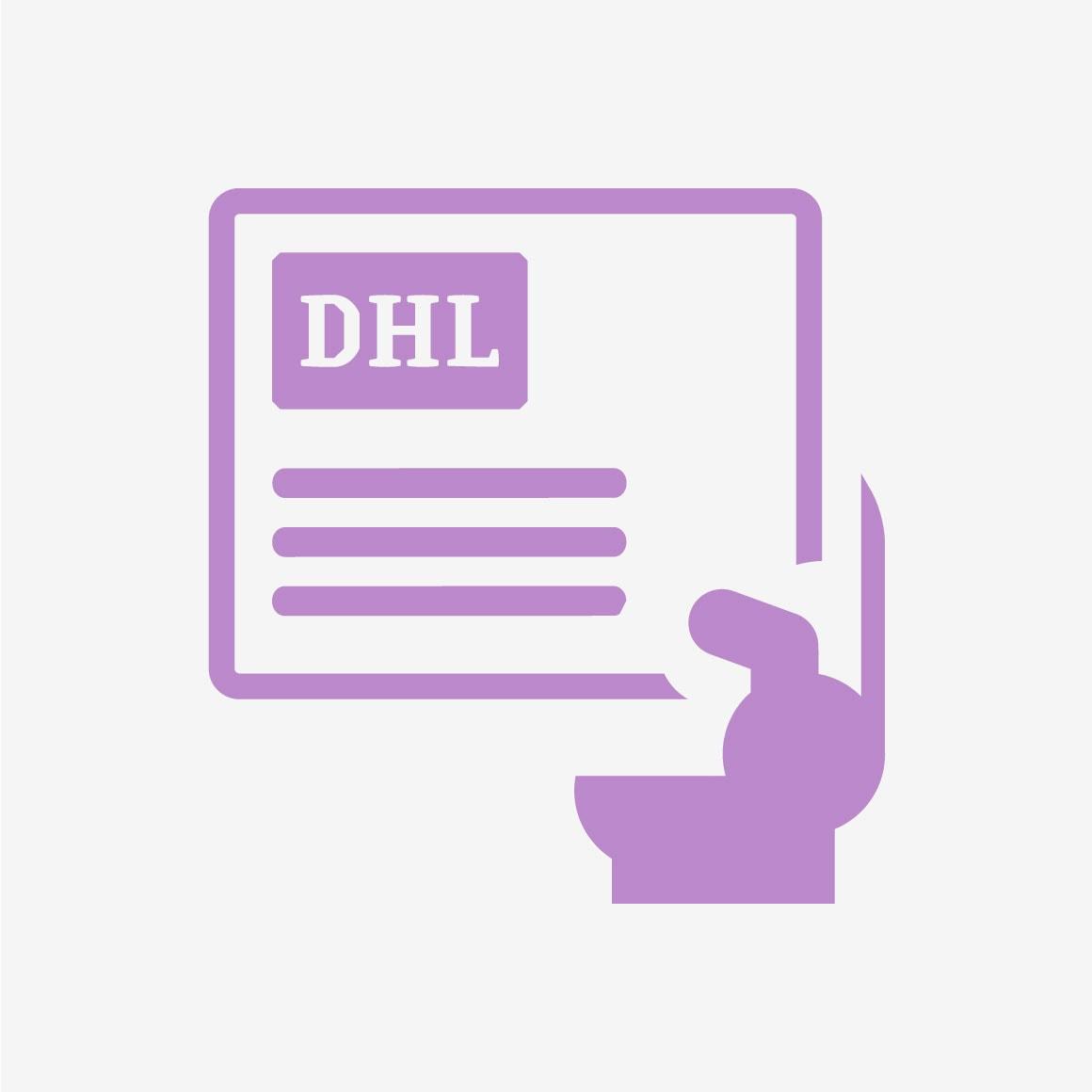 3. Verpacken Sie Ihr defektes muss.dental-Handstück und versehen Sie es mit der beigelegten DHL-Versandmarke. Der Versand innerhalb Deutschlands ist für Sie kostenlos.